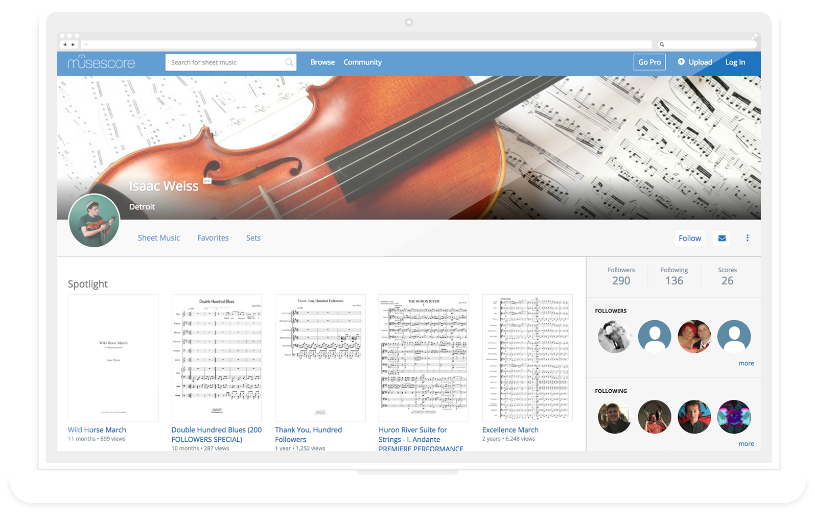 website musescore