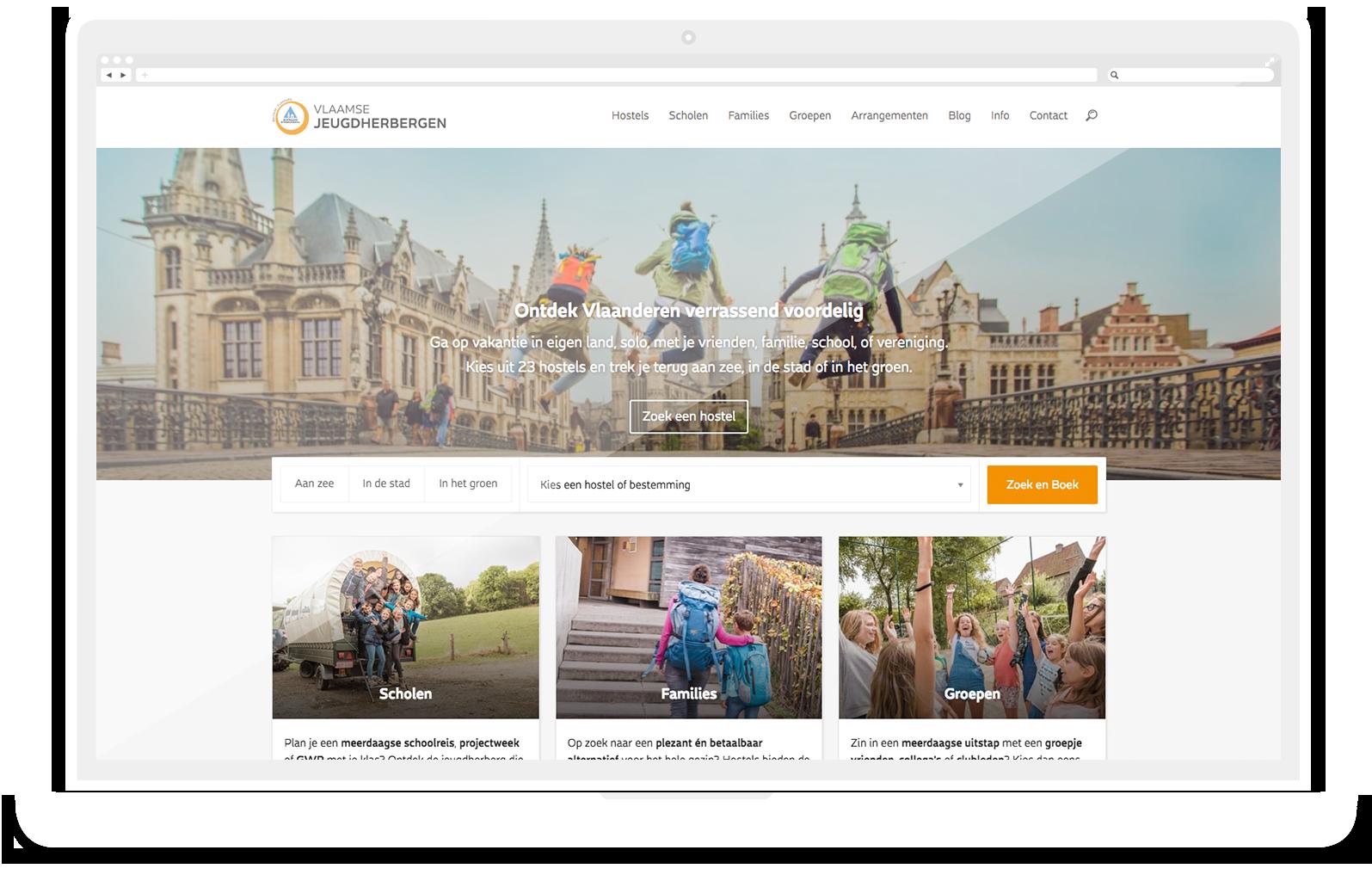 Vlaamse Jeugdherbergen Website